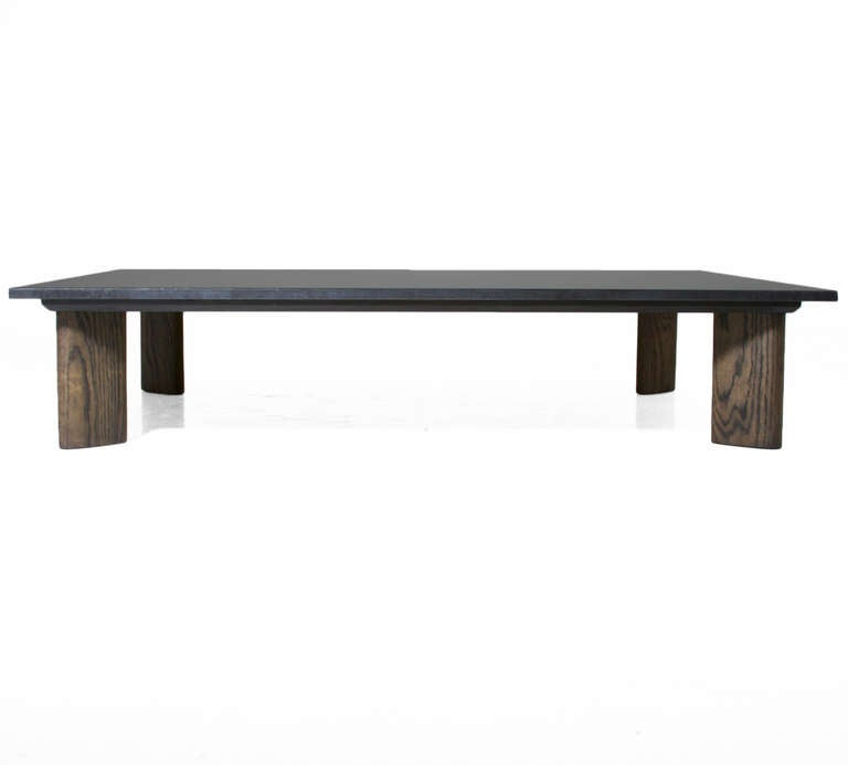 Solid Granite Top Coffee Table: Solid Oak And Honed Black Granite Coffee Table By Thomas
