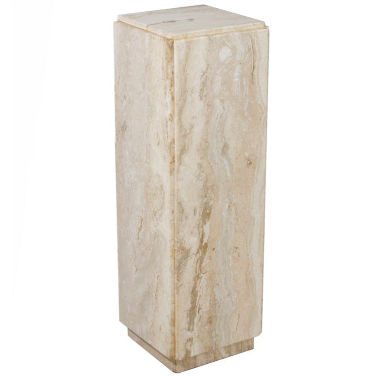 Marble Pedestal Attributed To Laverne At 1stdibs