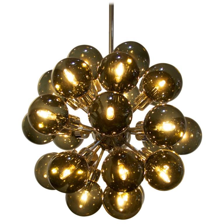 Lightolier Ring Chandelier At 1stdibs: Sputnik Chandelier By Lightolier At 1stdibs