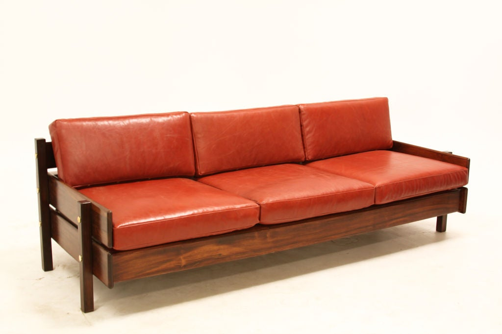 Custom Sofa With Floating Bookshelf By Sergio Rodrigues For Sale At 1stdibs