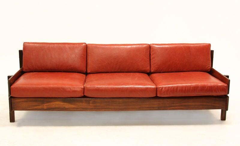 Custom Sofa with Floating Bookshelf by Sergio Rodrigues 3