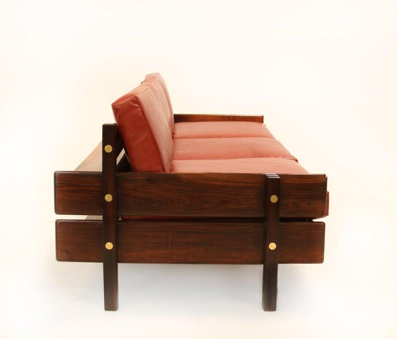 Custom Sofa with Floating Bookshelf by Sergio Rodrigues 4
