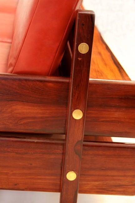 Custom Sofa with Floating Bookshelf by Sergio Rodrigues 5