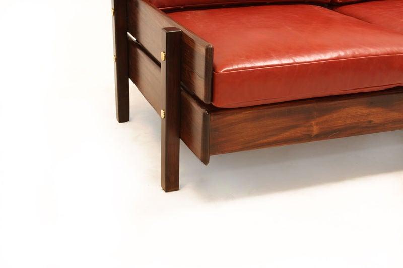 Custom Sofa with Floating Bookshelf by Sergio Rodrigues 6