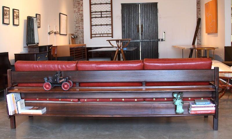 Custom Sofa with Floating Bookshelf by Sergio Rodrigues 8