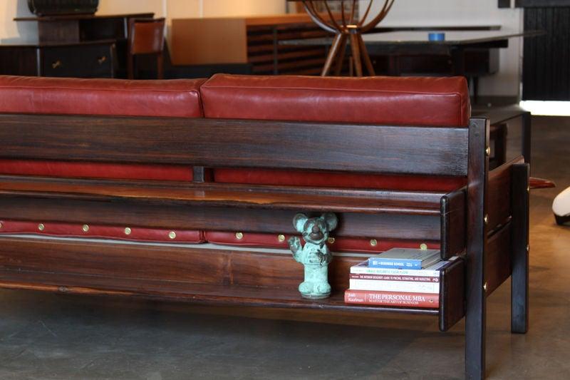 Custom Sofa with Floating Bookshelf by Sergio Rodrigues 9