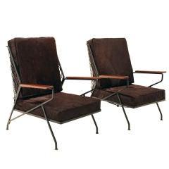 Salterini tall lounge chairs by Maurizio Tempestini