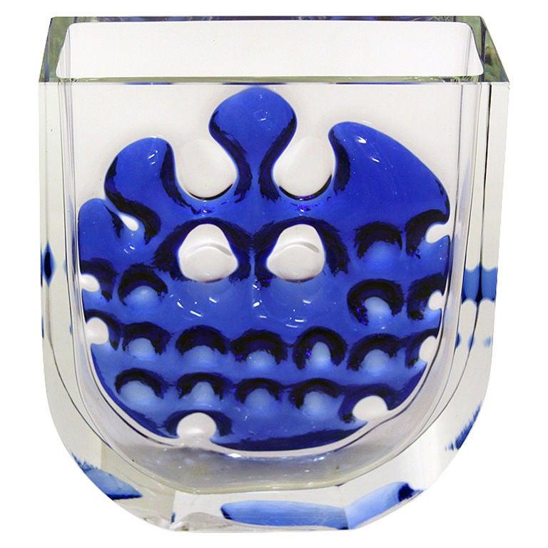 Abstract Scandinavian Glass Vase