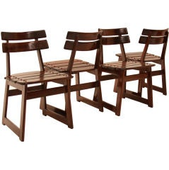 "Set of Four ""Taja"" Outdoor Chairs by Sergio Rodrigues"