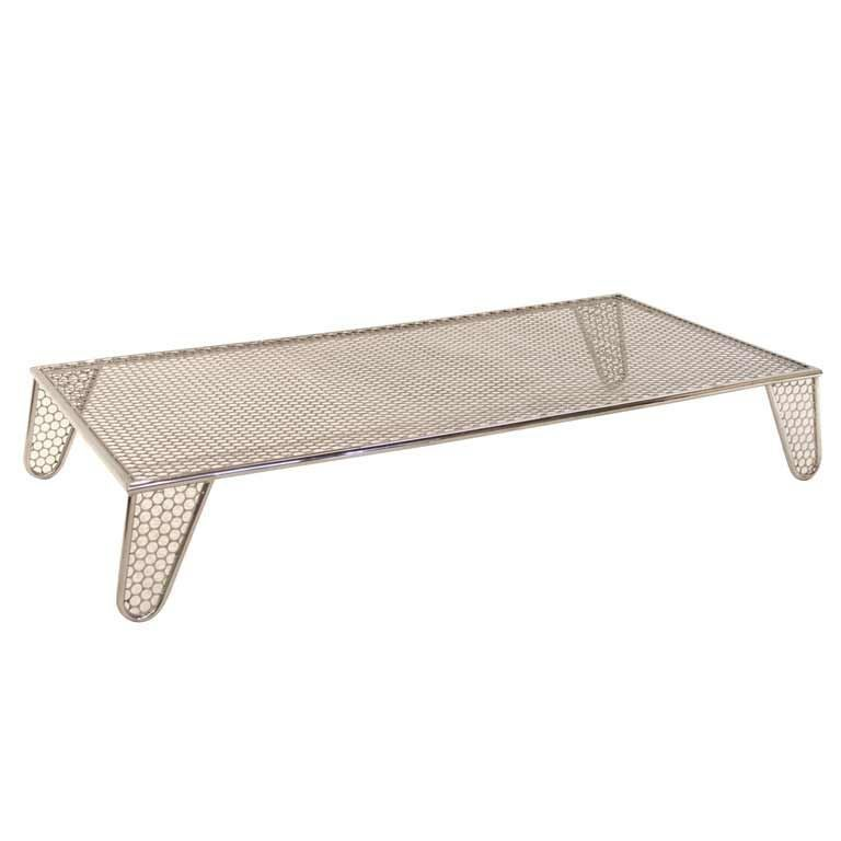 "Narrow Rectangular Brass And Marble Coffee Table By Edward: Prototype ""Inox"" Coffee Table By Zanini De Zanine At 1stdibs"