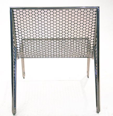 """Set of Four """"Inox"""" Chairs by Zanini de Zanine In Good Condition For Sale In Hollywood, CA"""