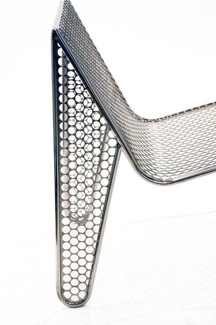 "Contemporary Set of Four ""Inox"" Chairs by Zanini de Zanine For Sale"