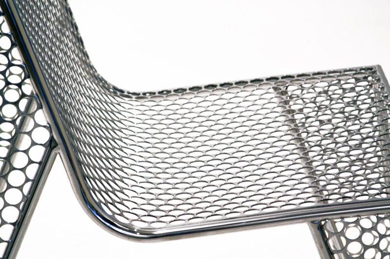 """Set of Four """"Inox"""" Chairs by Zanini de Zanine For Sale 2"""