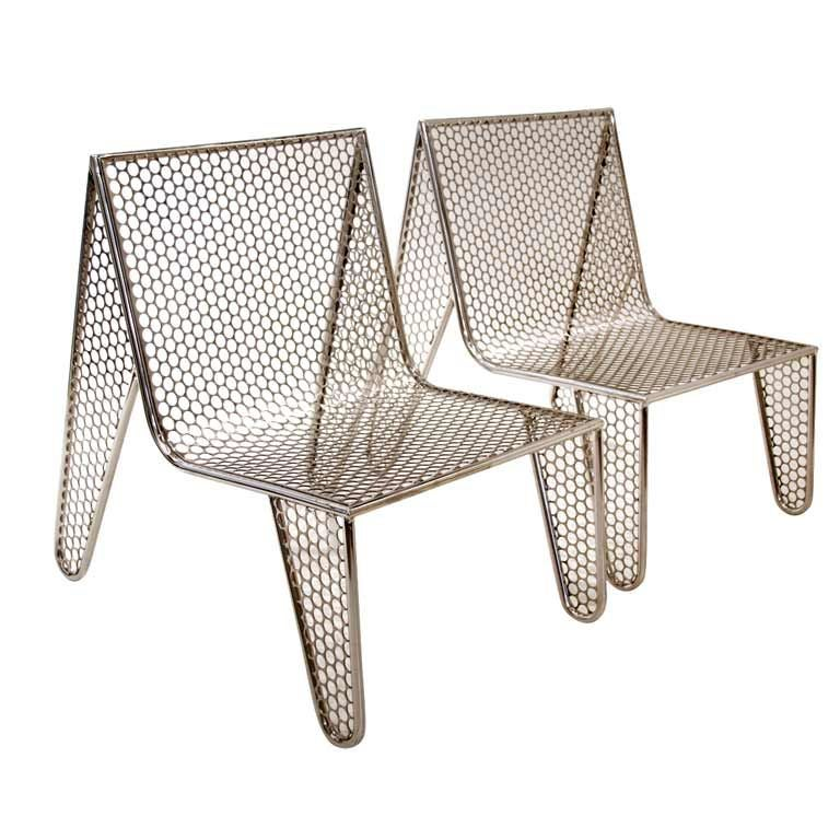 "Set of Four ""Inox"" Chairs by Zanini de Zanine"
