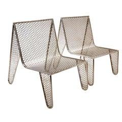 "Set of Four ""Inox"" Chairs by Zanini de Zanine"