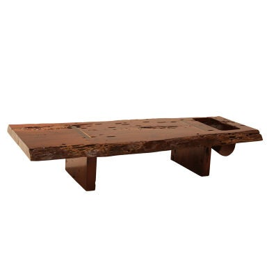 Live Edge Coffee Table Or Bench By Zanini De Zanine At 1stdibs