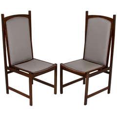 Celina Moveis Brazilian Mahogany Side Chairs, circa 1960