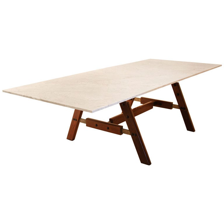 Custom Sergio Rodrigues Architectural Dining Table : XXX888513201954241 from 1stdibs.com size 768 x 768 jpeg 23kB