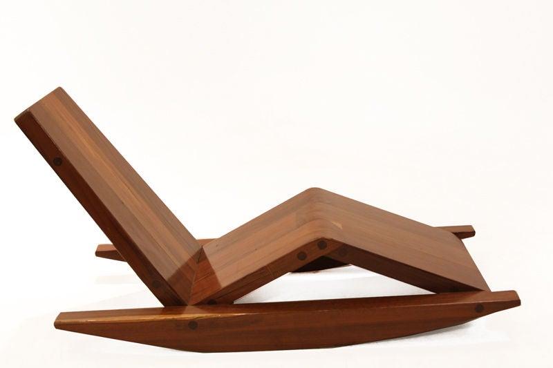 solid salvaged ipe wood rocking chair by zanini de zanine 3