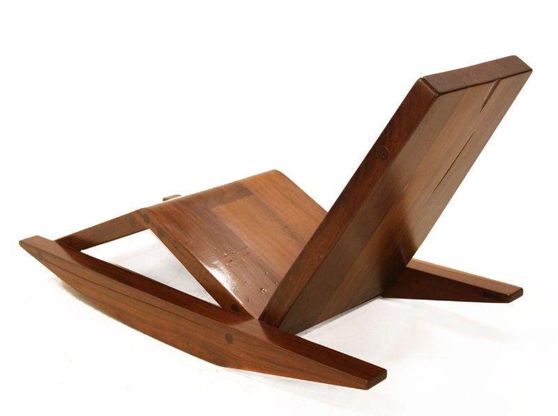 Solid salvaged Ipe wood rocking chair by Zanini de Zanine at 1stdibs