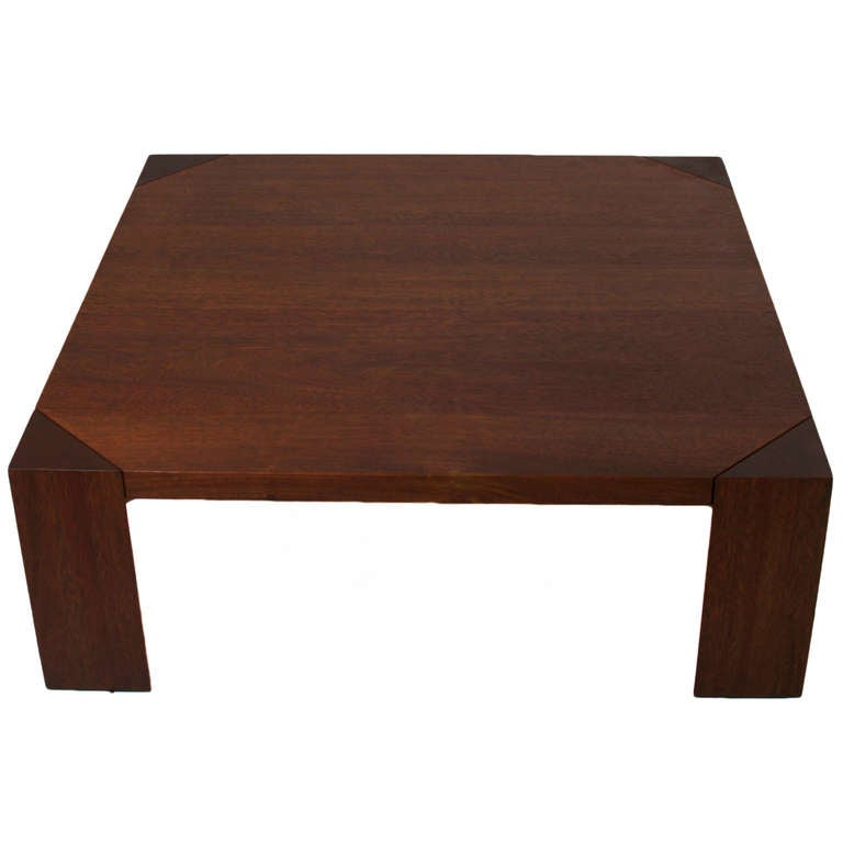 Square Solid Oak Coffee Table By Sherrill Broudy For Sale At 1stdibs