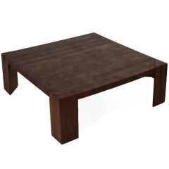 Mid-Century Sherrill Broudy Mahogany Parquetry Coffee Table