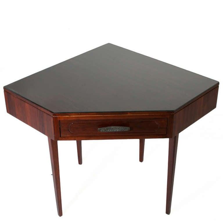 American Solid Walnut Monteverdi and Young Corner Writing Desk