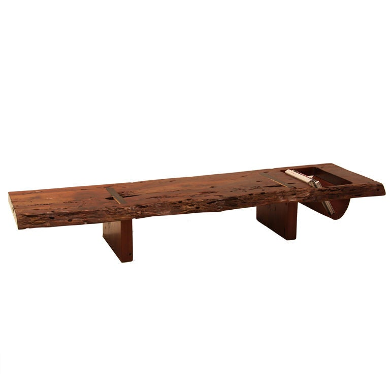Large Live Edge Coffee Table Or Bench By Zanini De Zanine At 1stdibs