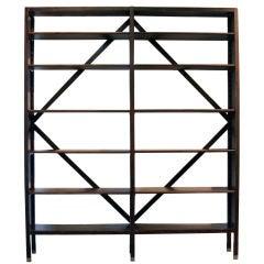Huge Brazilian hardwood bookshelf with adjustable shelves