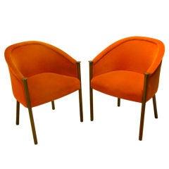 Pair of Original Rare Sculptural Ward Bennett Chairs
