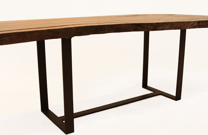 Custom Colyer Dining Table in solid Oak with live edges by Thomas Hayes Studio 10