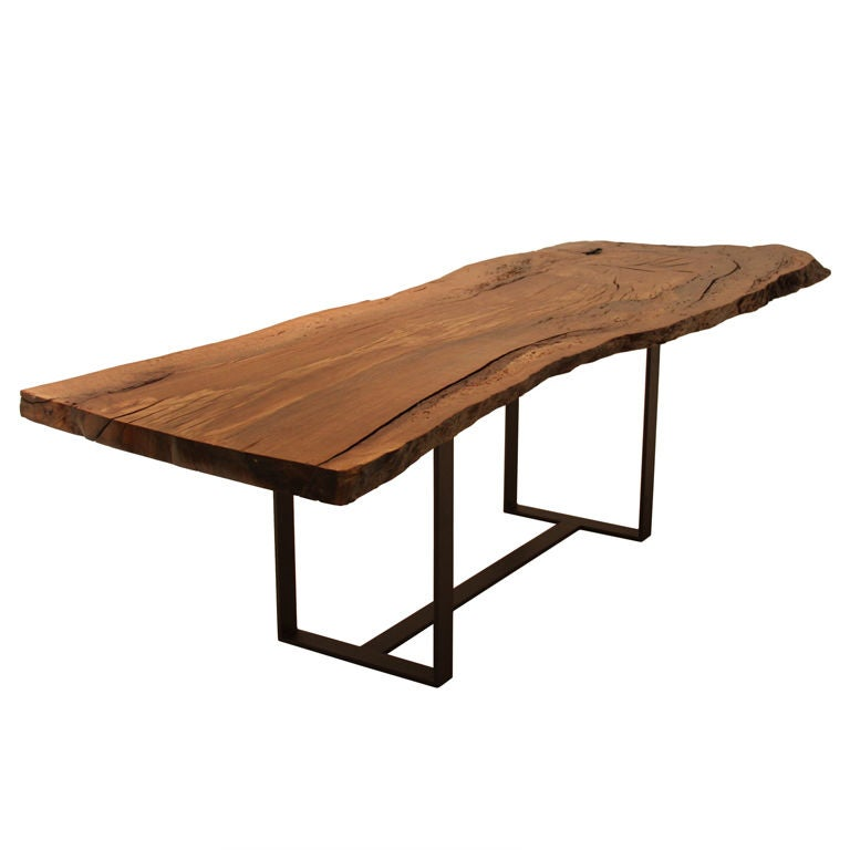 Custom Colyer Dining Table In Solid Oak With Live Edges By Thomas Hayes Studio At 1stdibs