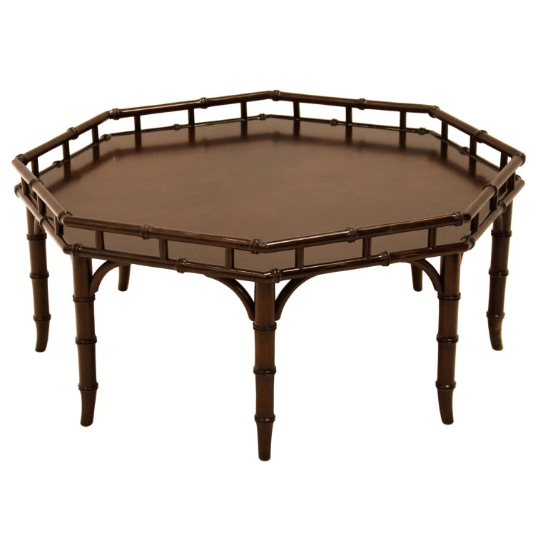 Faux Bamboo Coffee Table By Widdicomb At 1stdibs