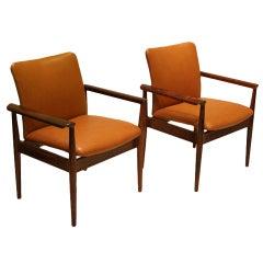 Rare pair of Solid Rosewood Finn Juhl Chairs