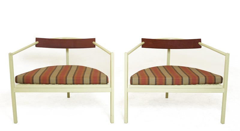 Pair of outdoor chairs in the style of Van Keppel Green image 2