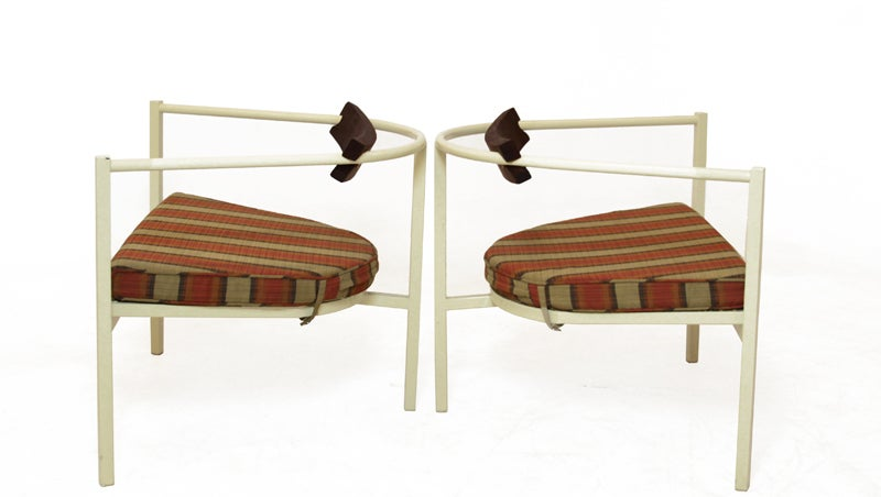 Pair of outdoor chairs in the style of Van Keppel Green image 4