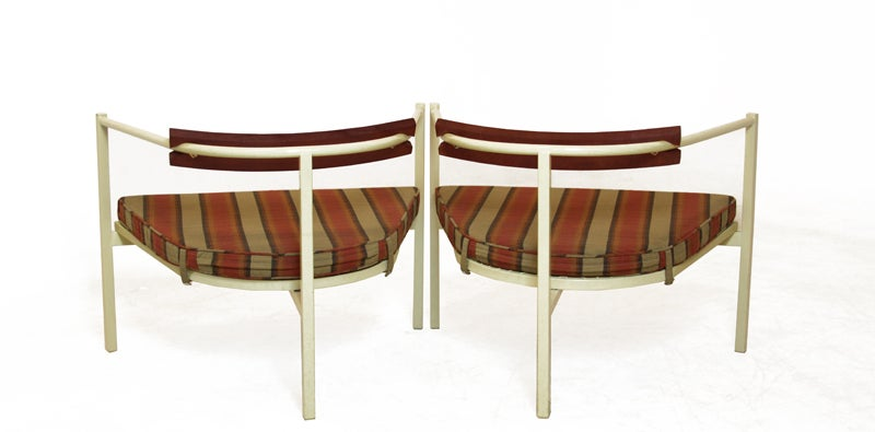 Pair of outdoor chairs in the style of Van Keppel Green image 5