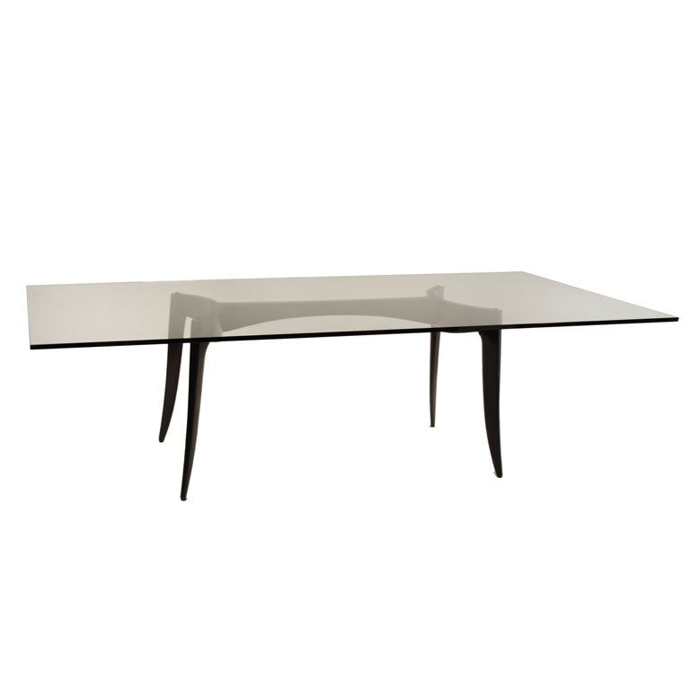 Sculptural Tapered Leg Wood and Chrome Dining Table with  : XXX888513406721631 from www.1stdibs.com size 768 x 768 jpeg 13kB