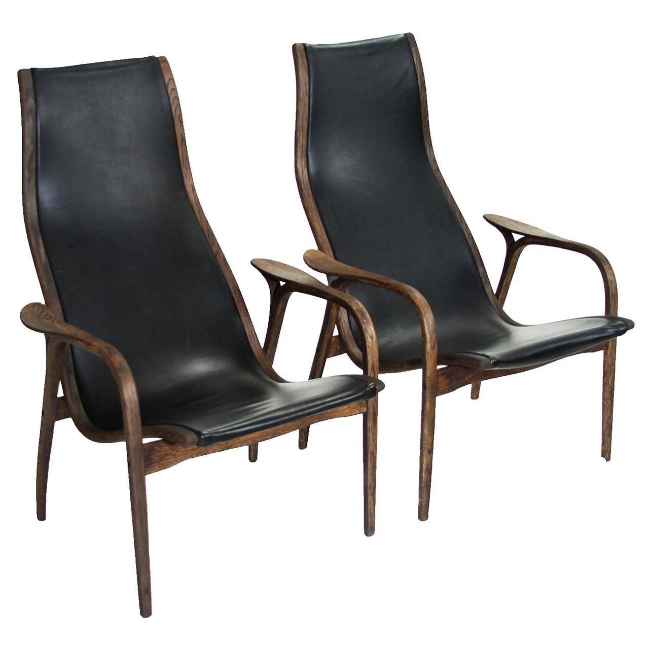 "Pair of""Lamino"" Lounge Chairs by Yngve Ekstrom at 1stdibs"