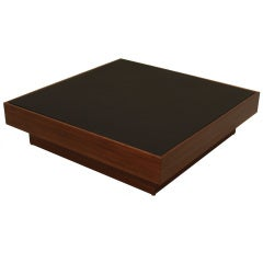 Quadrar Leather Coffee Table by Thomas Hayes Studio