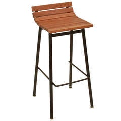The Slat Bar Stool in Lacewood by Thomas Hayes Studio