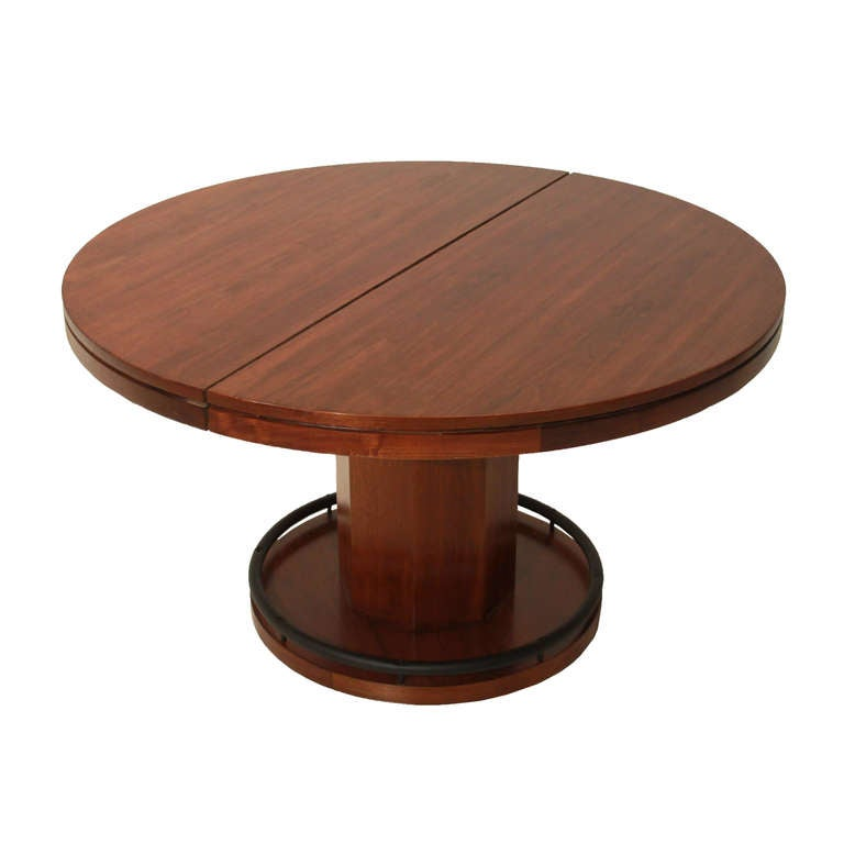 Craft convertible poker dining table with solid walnut for Innovative dining table