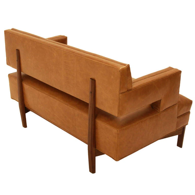 Contemporary Sophia Settee by Thomas Hayes Studio For Sale