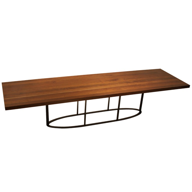 Custom oval base Colyer Dining Table in Ipe by Thomas  : XXX888513521657631 from 1stdibs.com size 768 x 768 jpeg 25kB