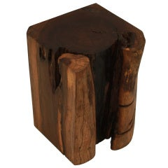 Massive solid Jatoba stool/side table by Tunico T.