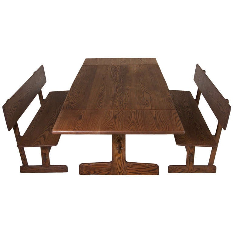 dining table and benches for orange crate modern for sale at 1stdibs