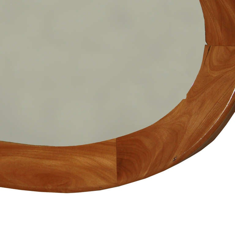 Brazilian Oval Mirror by Guiseppi Scapinelli For Sale