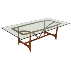 Sculptural Glass Dining Table By Guiseppi Scapinelli
