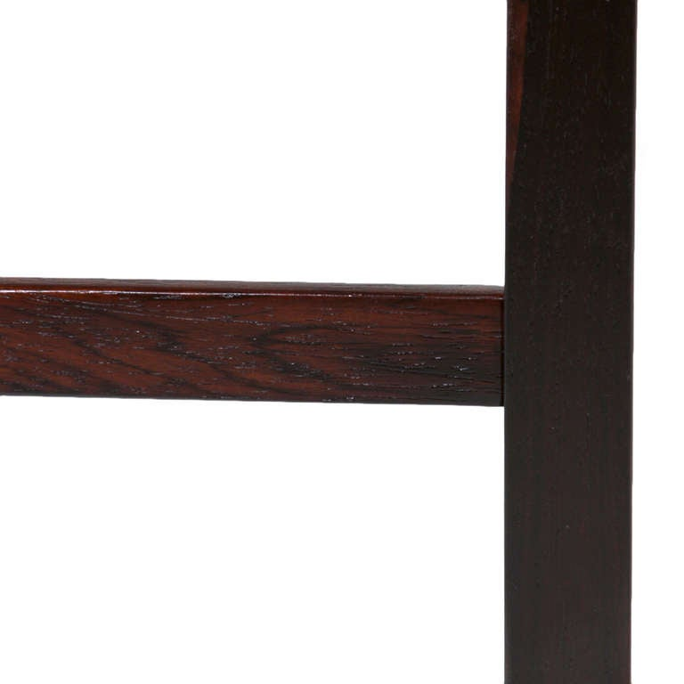 Black Glass Coffee Table Sale: Solid Brazilian Rosewood And Black Glass Coffee Table For