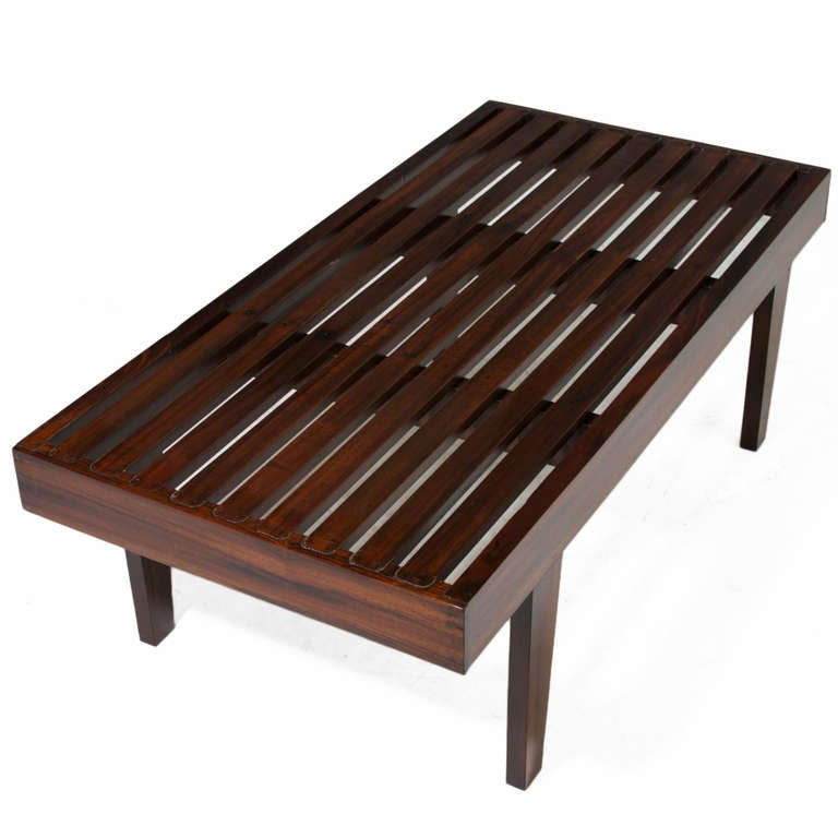 Exotic Glass Coffee Tables: Solid Brazilian Exotic Hardwood Coffee Table For Sale At